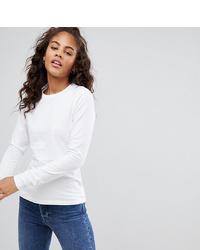 Женская белая футболка с длинным рукавом от Asos Tall