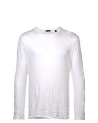 Мужская белая футболка с длинным рукавом от ATM Anthony Thomas Melillo