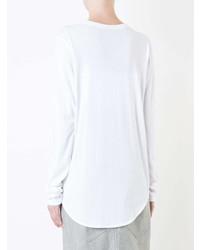 Женская белая футболка с длинным рукавом от Bassike