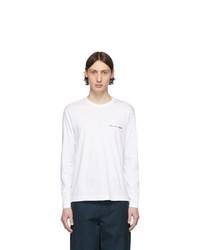 Мужская белая футболка с длинным рукавом от Comme Des Garcons SHIRT