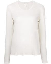 Женская белая футболка с длинным рукавом от Jil Sander