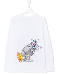 Детская белая футболка с длинным рукавом для девочке от Stella McCartney