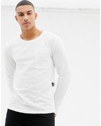 Мужская белая футболка с длинным рукавом от Tom Tailor