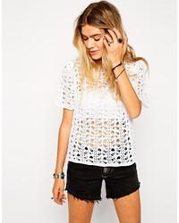Женская белая футболка с круглым вырезом крючком от Asos