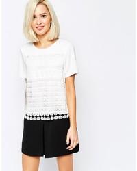 Женская белая футболка с круглым вырезом крючком от Vero Moda
