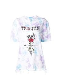 Женская белая футболка с круглым вырезом с принтом тай-дай от Alchemist