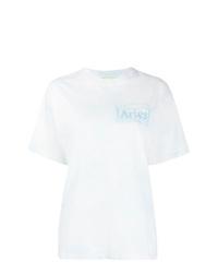 Женская белая футболка с круглым вырезом с принтом тай-дай от ARIES