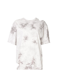 Женская белая футболка с круглым вырезом с принтом тай-дай от Le Ciel Bleu
