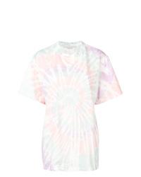 Женская белая футболка с круглым вырезом с принтом тай-дай от Stella McCartney