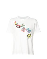 Женская белая футболка с круглым вырезом с принтом от Amiri