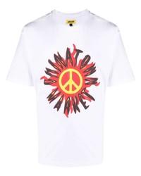 Мужская белая футболка с круглым вырезом с принтом от Chinatown Market