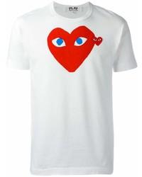 Мужская белая футболка с круглым вырезом с принтом от Comme des Garcons
