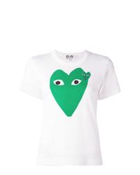 Женская белая футболка с круглым вырезом с принтом от Comme Des Garcons Play