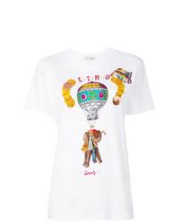 Женская белая футболка с круглым вырезом с принтом от Etro