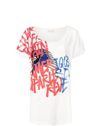 Женская белая футболка с круглым вырезом с принтом от Faith Connexion