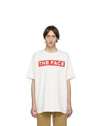 Мужская белая футболка с круглым вырезом с принтом от Gucci
