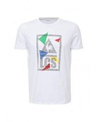 Мужская белая футболка с круглым вырезом с принтом от Le Coq Sportif