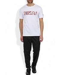 Мужская белая футболка с круглым вырезом с принтом от Umbro