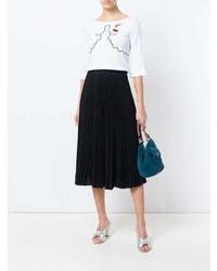 Женская белая футболка с круглым вырезом с принтом от Vivetta