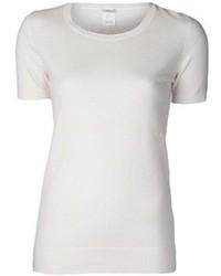 Белая футболка с круглым вырезом