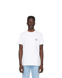 Мужская белая футболка с круглым вырезом от A.P.C.