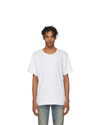 Мужская белая футболка с круглым вырезом от Amiri