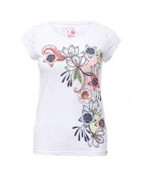 Женская белая футболка с круглым вырезом от Animal