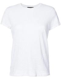 Женская белая футболка с круглым вырезом от ATM Anthony Thomas Melillo