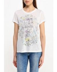 Женская белая футболка с круглым вырезом от Baon