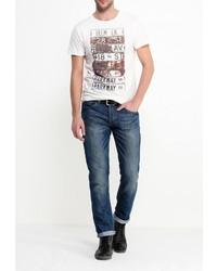 Мужская белая футболка с круглым вырезом от BLEND