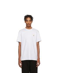 Мужская белая футболка с круглым вырезом от CARHARTT WORK IN PROGRESS