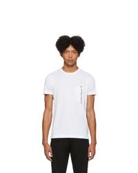 Мужская белая футболка с круглым вырезом от Diesel