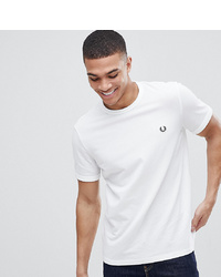 Мужская белая футболка с круглым вырезом от Fred Perry