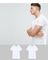 Мужская белая футболка с круглым вырезом от Hugo