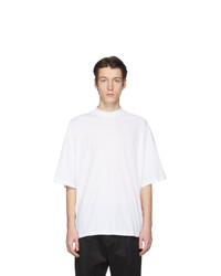 Мужская белая футболка с круглым вырезом от Jil Sander