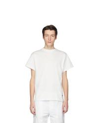 Мужская белая футболка с круглым вырезом от Jil Sanderand