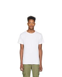 Мужская белая футболка с круглым вырезом от John Elliott