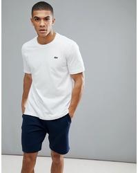 Мужская белая футболка с круглым вырезом от Lacoste Sport