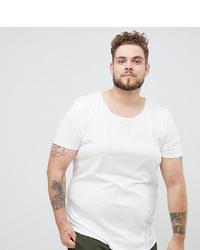 Мужская белая футболка с круглым вырезом от Lee