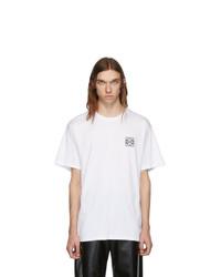 Мужская белая футболка с круглым вырезом от Loewe