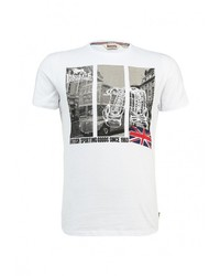 Мужская белая футболка с круглым вырезом от Lonsdale