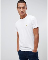 Мужская белая футболка с круглым вырезом от Lyle & Scott