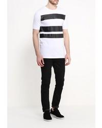 Мужская белая футболка с круглым вырезом от Minimum