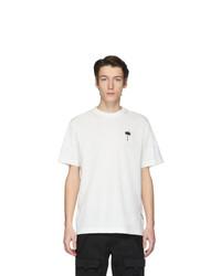 Мужская белая футболка с круглым вырезом от Palm Angels