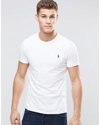 Мужская белая футболка с круглым вырезом от Polo Ralph Lauren
