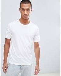 Мужская белая футболка с круглым вырезом от Selected Homme