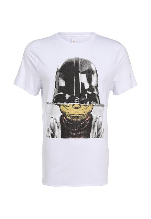 Мужская белая футболка с круглым вырезом от Sweewe