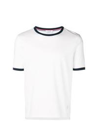 Мужская белая футболка с круглым вырезом от Thom Browne