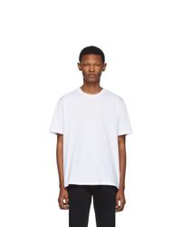 Мужская белая футболка с круглым вырезом от Versace