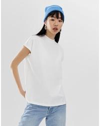 Женская белая футболка с круглым вырезом от Weekday